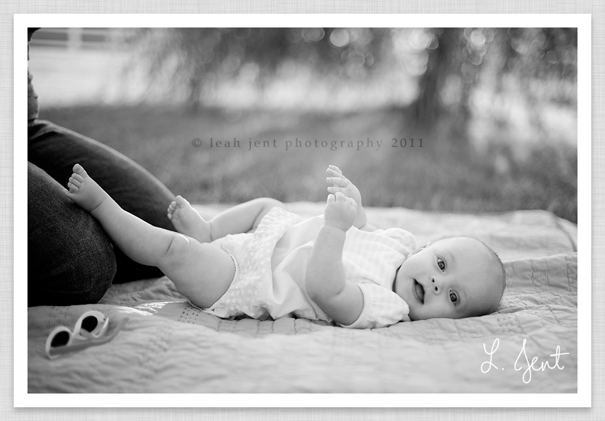 black and white baby portrait