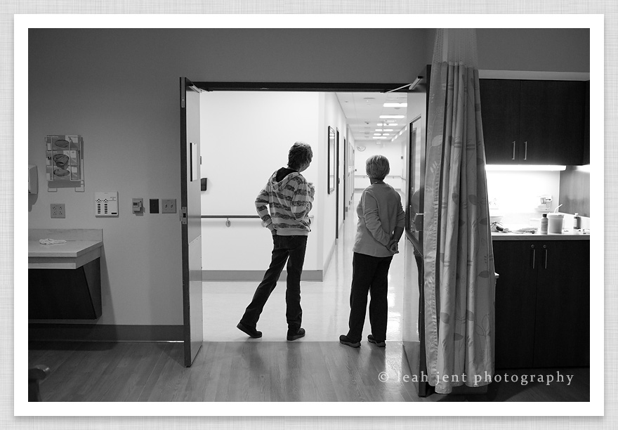 grandmothers waiting for birth of a grandchild